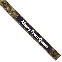 Gold and Black Diamonds Full-color Sash
