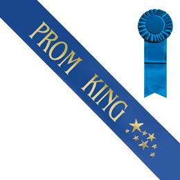 Prom King Sash With Gold Stars