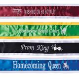 Embroidered Sash with 1-color Edge