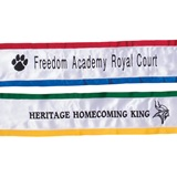 Embroidered Sash with 2-color Edges
