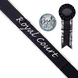 Homecoming Royal Court Black Sash with Rosette and Button