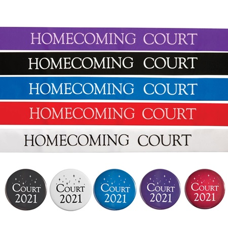 Homecoming Court Ribbon Sash with Button