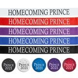 Homecoming Prince Ribbon Sash with Button