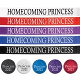 Homecoming Princess Ribbon Sash with Button
