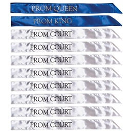 10-piece Prom King, Queen, and Court Sash Set