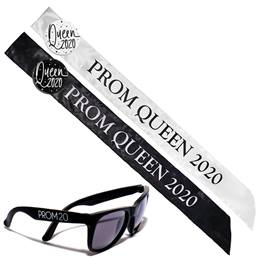 Prom Queen Sash, Button, and Sunglasses Set