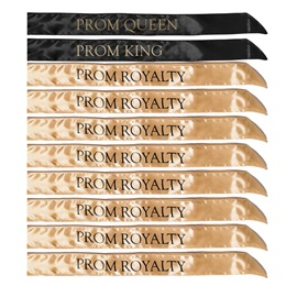 10-piece Prom King, Queen, and Royalty Sash Set