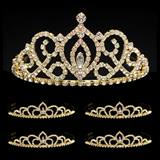 Prom Tiara Set - Gold Cameo Perfect Queen and Gold Sissy Court