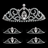 Prom Tiara Set - Black Vanessa Queen and Black Vicky Court