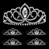 Prom Tiara Set - Black Valerie Queen & Black Kayla Court