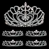 Prom Tiara Set - Black Marissa Queen & Black Cassandra Court