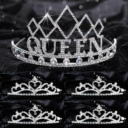 Prom Tiara Set - Empress Queen and Gold Alisa Court
