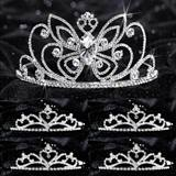 Prom Tiara Set - Monarch Queen and Gold Alisa Court