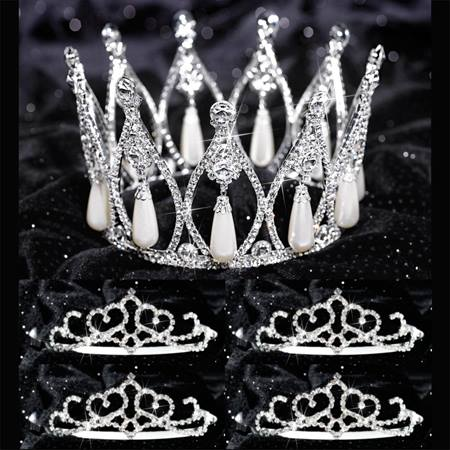 Tiara Set - Grace Queen and Crystal Court