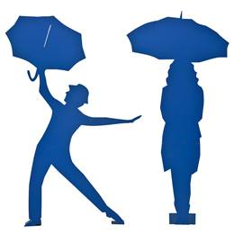 Romance in the Rain Umbrella Guy and Gal Kit