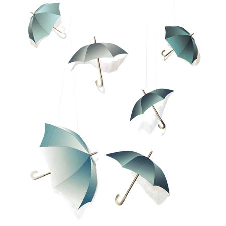 Raindrops Keep Fallin' Umbrellas Kit (set of 6)