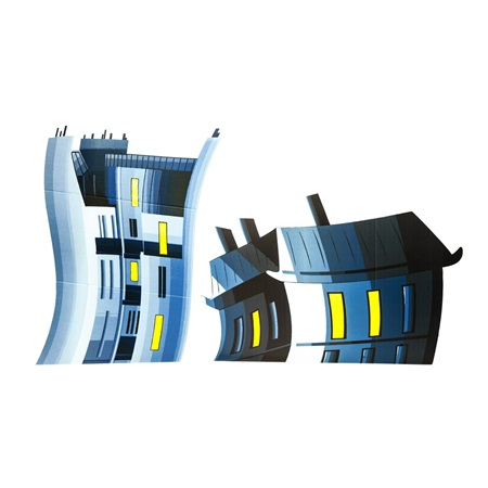 Short Fanciful Buildings Kit (set of 2)