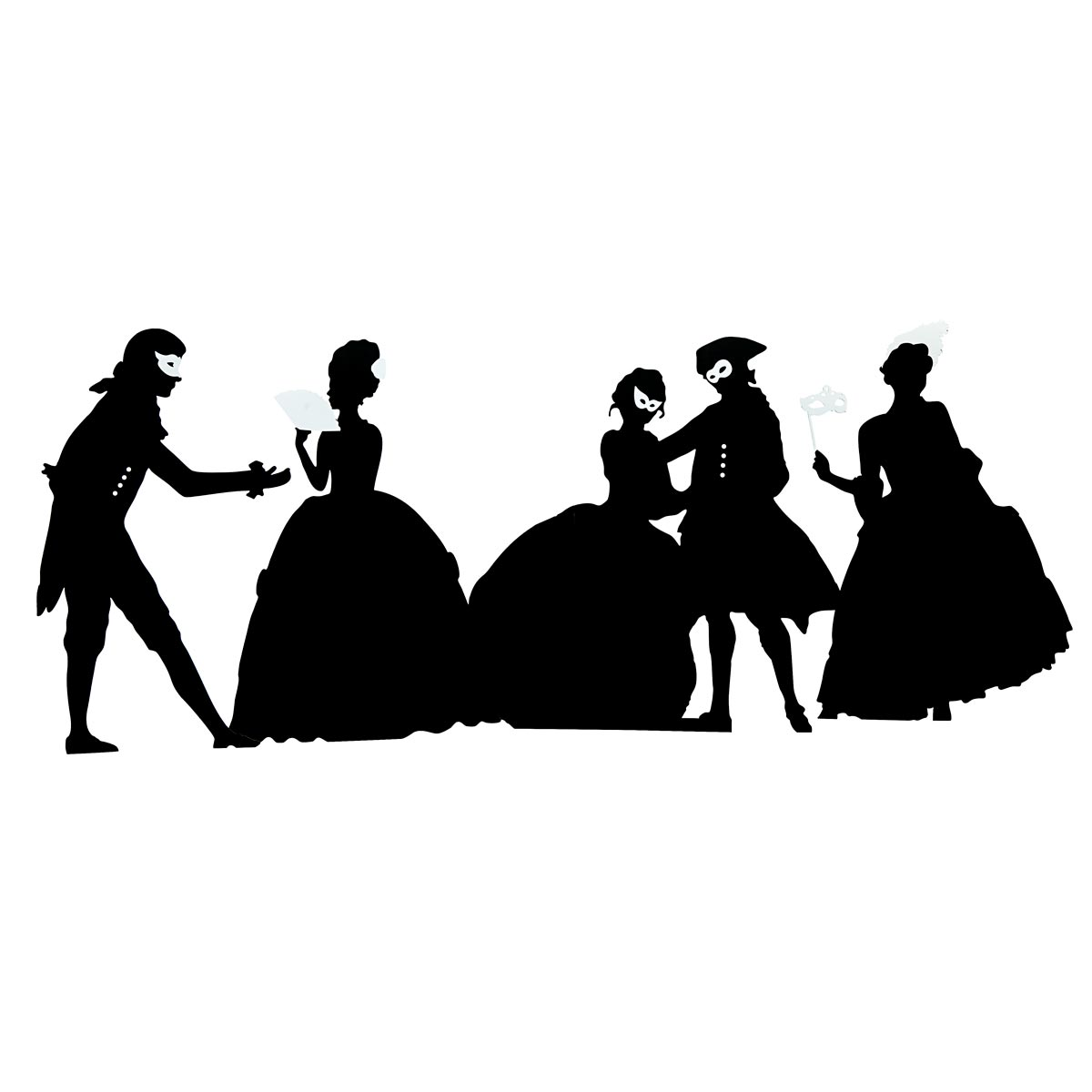 Shadow People Silhouettes Kit (set of 5)