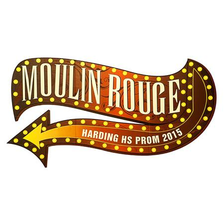 Personalized Moulin Rouge Sign Kit