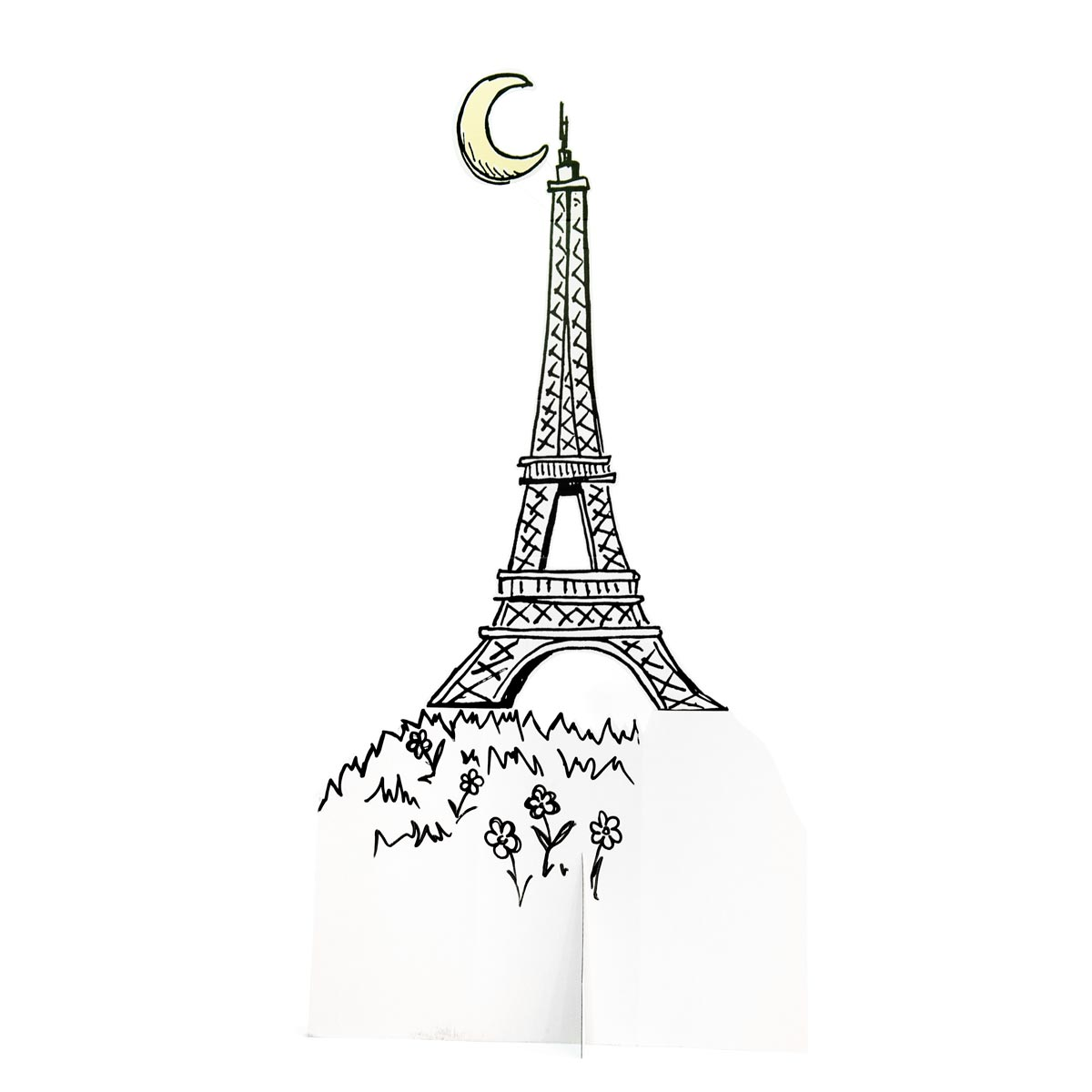 Pictures of Paris Tower, Moon and Hill Kit