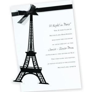 Eiffel Tower Invitation