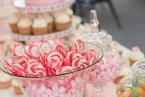 A color-coordinated Candy Buffet is a sweet Prom idea that students will love.