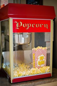 A popcorn machine is a tasty Prom idea that will have students lining up for more!