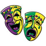 Comedy/Tragedy Masks Cutouts