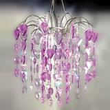 Teardrop Gems Chandelier - Purple