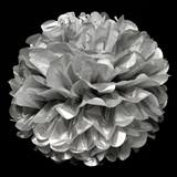 Metallic Silver Flower Tissue Ball