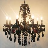 Black Jewels Candelabra Chandelier