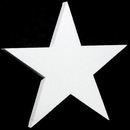 White Styrofoam Star - 15 inches