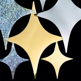 6 inch Metallic Gold 4-Point Stars - Package of 12