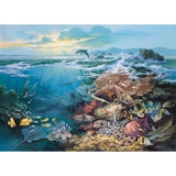 Sunrise Seascape Photo Wall Mural
