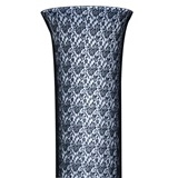 Lacy Black Rose Fabric Cover For Column