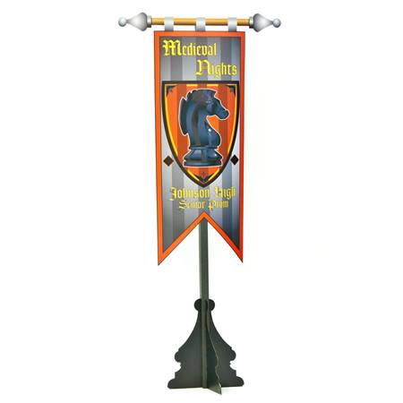 Medieval Heraldry Banner Stand Kit (Personalized)
