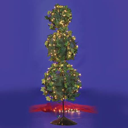 Lit Wire Decorated Topiary Tree