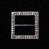 Square Diamond Brooches (set of 2)
