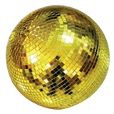 Gold Mirror Ball