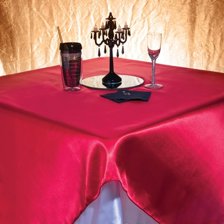 Satin Square Table Cover - 72""