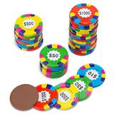Chocolate Poker Chips - Assorted Colors