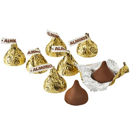 Hershey's Kisses Chocolates with Almonds - Gold