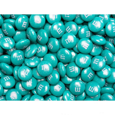 Teal M&M's Milk Chocolate Candy - 2 lbs.