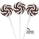 Swipple Pops® Petite Swirly Ripple Lollipops - Black Cherry