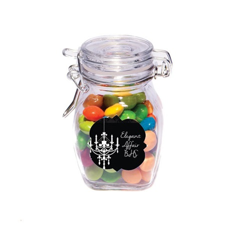 Glass Jar With Full-color Label