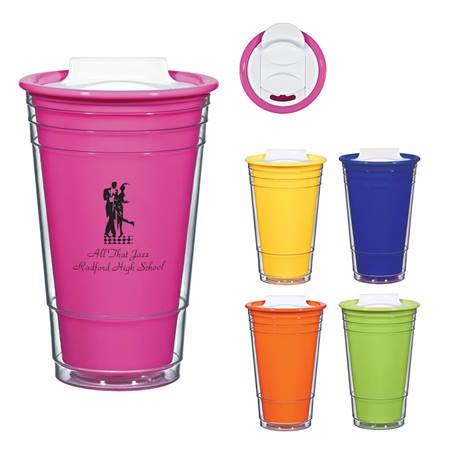 Neon Tumbler With Lid