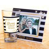 Full-color Tumbler and Frame Favor Set - Black, White, and Gold