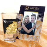 Tumbler and Frame Favor Set - Gold Casino