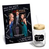 Chalkboard Frame/Bradford Tumbler with Gold Lid Favor Set