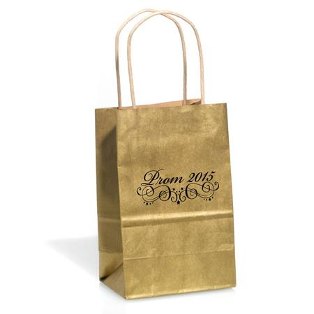 Gold Prom 2015 Favor Bag